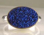 Drusy Ring - Cobalt Blue-Purple