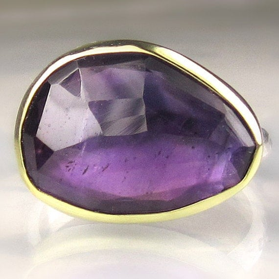 Rose Cut Amethyst Ring - Made to Order