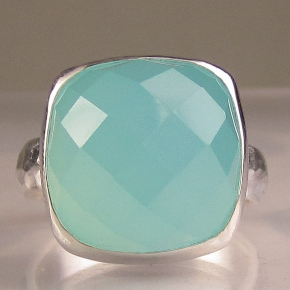 Sea Green Chalcedony Cocktail Ring