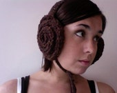 Knitted Leia Earmuffs - RESERVED FOR GUTTERSNIPEYARN