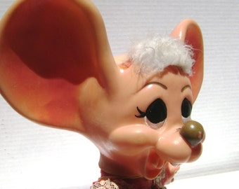 Vintage Bank, Big Eared Mouse, Roy Des of FLA 1970, Topo Gigio, Big Bank, Buck Teeth, Rodent, I Can Hear You, Money Saving, Kids