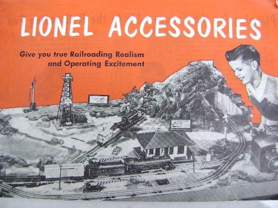 Lionel Train Accessories Catalogue 1953 Vintage Christmas