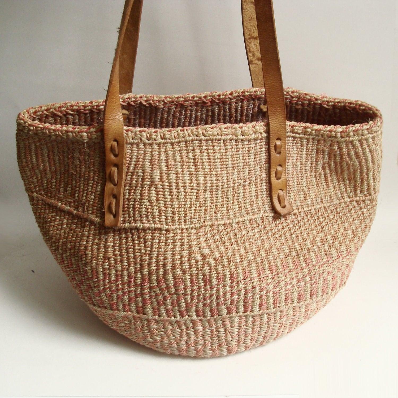 woven straw bag / sisal bag / southwestern woven bag