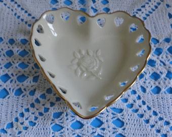 LENOX Porcelain Heart Dish