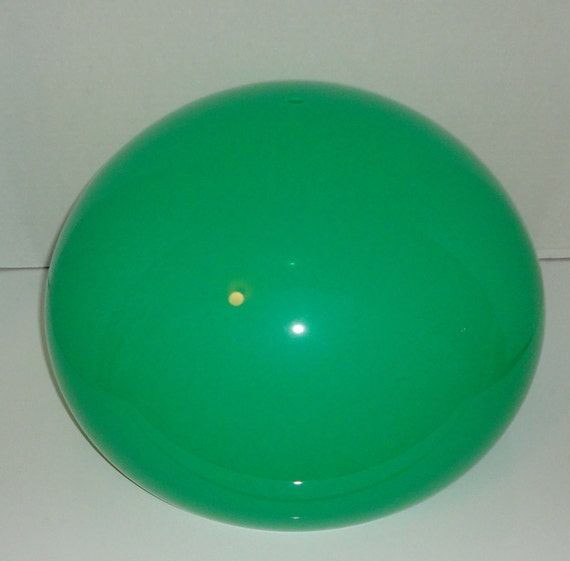 Green Plastic Lamp Shade from 1970's