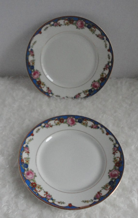 Kaestner Bread Plates. Pattern 2179.  Set of 2. Made in Germany