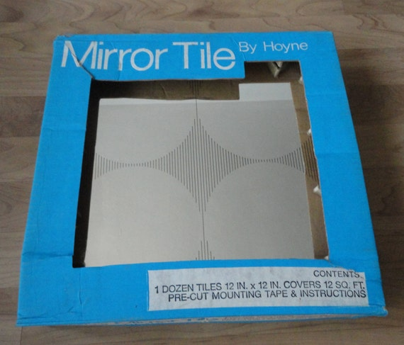Mirror Tiles Black Cirlcles By Hoyne 12 X 12