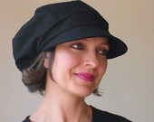 Street hat - Black twill - STR413 - from Millinerium