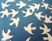 Cream Birds Punches die cut