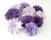 Purple and Lavender paper Flowers