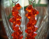 Red Swarovski Crystal Dangle Earrings