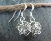 Sterling Silver Squiggle Dangle Earrings