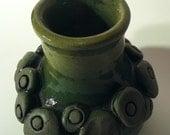 Green Impression Vase