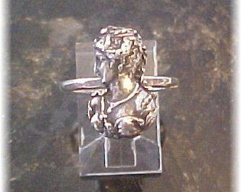 Sterling Silver Victorian Lady Ring