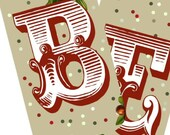 BELIEVE Christmas Banner Printable Garland, Pennant, Tags, Collage with Bonus Ovals - DOWNLOAD sent to you