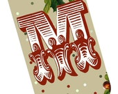 Merry Christmas Banner Garland, Pennant, Tags, Collage with Bonus Ovals - DOWNLOAD Easily Banner Bunting Party