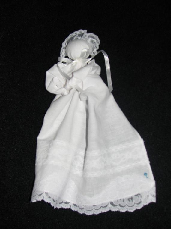Prayer Doll Church Doll Hanky Baby Handkerchief Doll Or