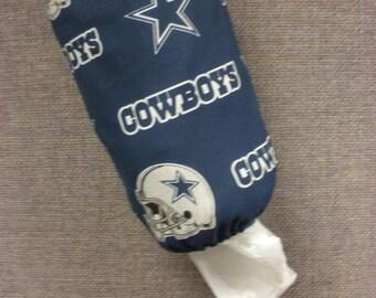 50% OFF SALE - Dallas Cowboys Plastic Bag Dispenser/Plastic Bag Holder