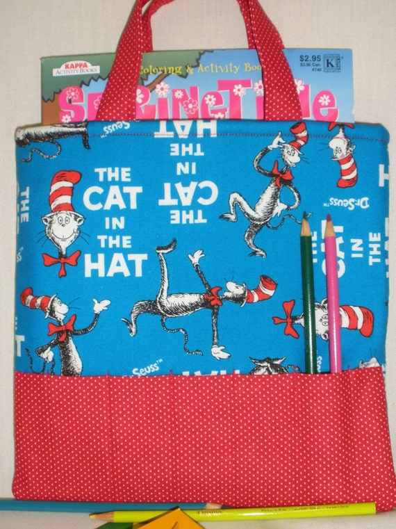 Cat in the Hat Crayon Tote