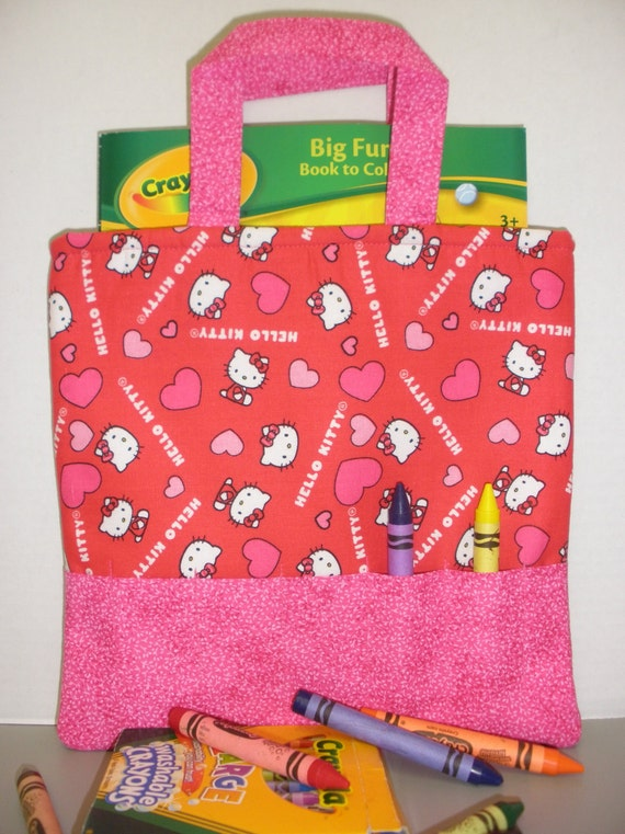 Valentine Hello Kitty Crayon Tote by NotWithoutAnnette on Etsy