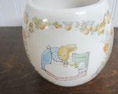 Vintage Teleflora Beatrix Potter Flower Pot/FloralContainer  Arrangement/Floral