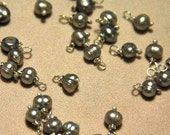 Phyllis's silver pearl dangles