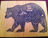 Large Bear Spirit Rubber Stamp - Sale