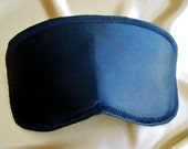 Men's Black Silk Sleep Mask Blindfold