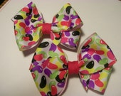 Baby/Toddler Hair Bows,Easter Set of Jelly Bean Hair Bows