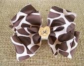 Animal Print Double Hair Bow