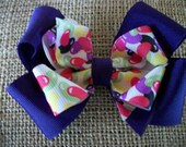 Toddler Hair Bow, Double Boutique Jelly Bean Easter Bow