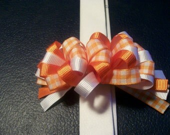 Orange Loopy Bow