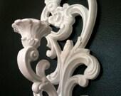 Graceful White Sconces