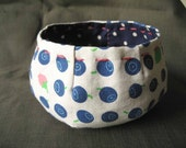 Blueberry fabric bowl