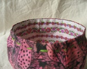 African print fabric bowl