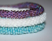 Set of 3 Crochet Delica Beads Bracelet