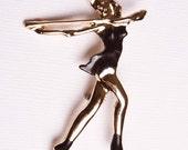 Vintage Jazz Dancer Brooch