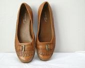 Brown pony toe shoe womens size 7