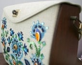 Canvas and wooden purse