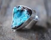 Drusy Chrysocolla Ring