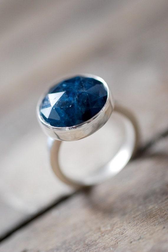 Emerald Blue Apatite Ring