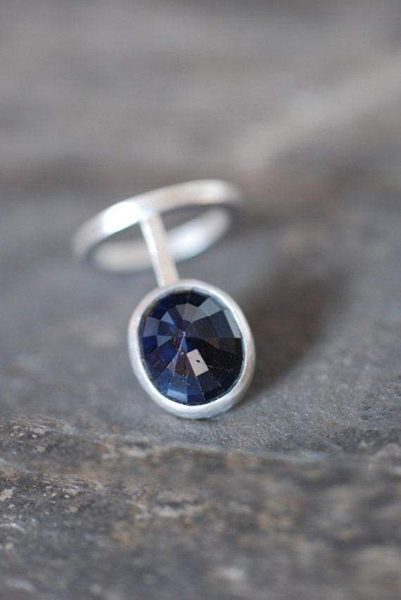 Sapphire Cage Ring