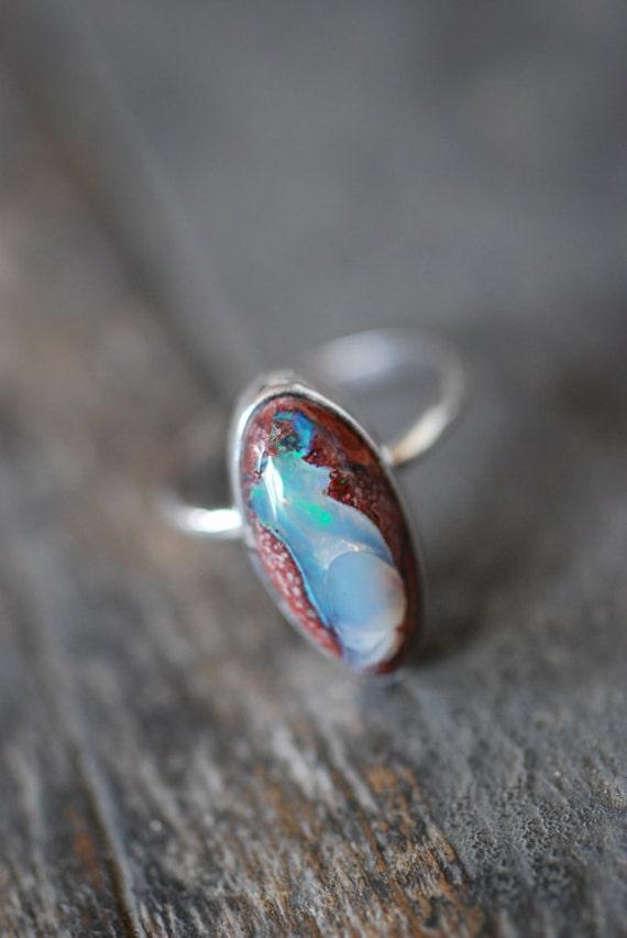 Purple Fire Opal Ring