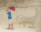 The Rain Monster Follows Lucy Home