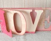 LOVE Word Shape Perfect Pink Photo Album