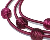 Clearance sale 50% off Silk Balls short Necklace WINE CHERRIES