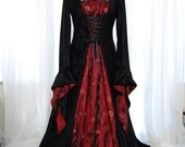 Medieval pagan wedding prom dress gown LOTR hand fasting size 18 - 28