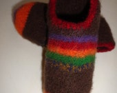 Felted Womens House Slippers size 7-7.5