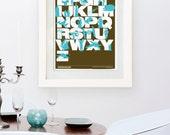 Star Wars Inspired Print (Brown-Blue)