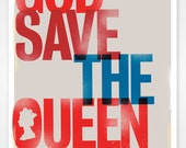 God Save The Queen A3 Jubilee Print - thedesignersnursery